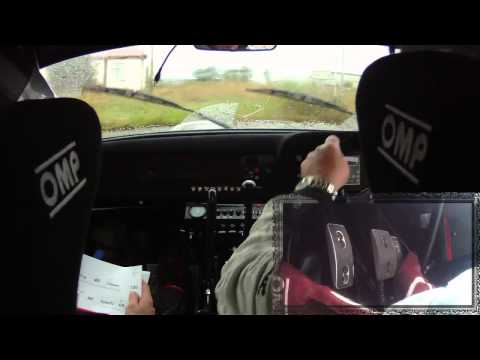 Gerard O'Connell and Philip Armstrong dogleap rally 2014 ss5