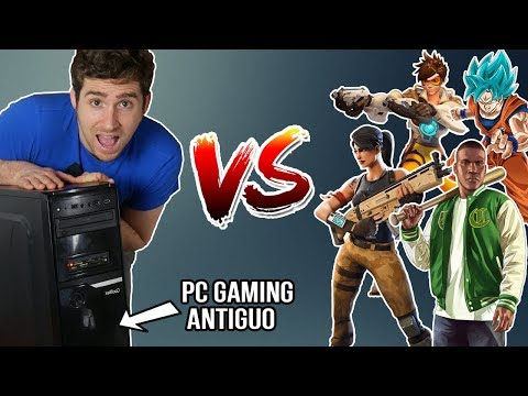 ¿en serio? PC Gaming ANTIGUO VS juegos ACTUALES | Fortnite, GTA V , Overwatch etc