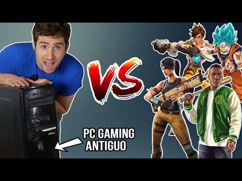 ¿en serio? PC Gaming ANTIGUO VS juegos ACTUALES   Fortnite, GTA V , Overwatch etc