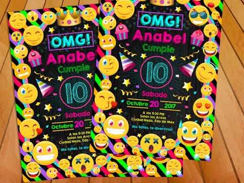 Invitación Emoji Smile Emoticonos Gratis Todo Gratis