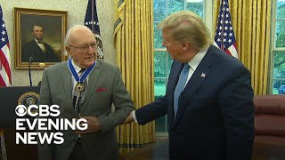 Trump awards Medal of Freedom to NBA legend Bob Cousy