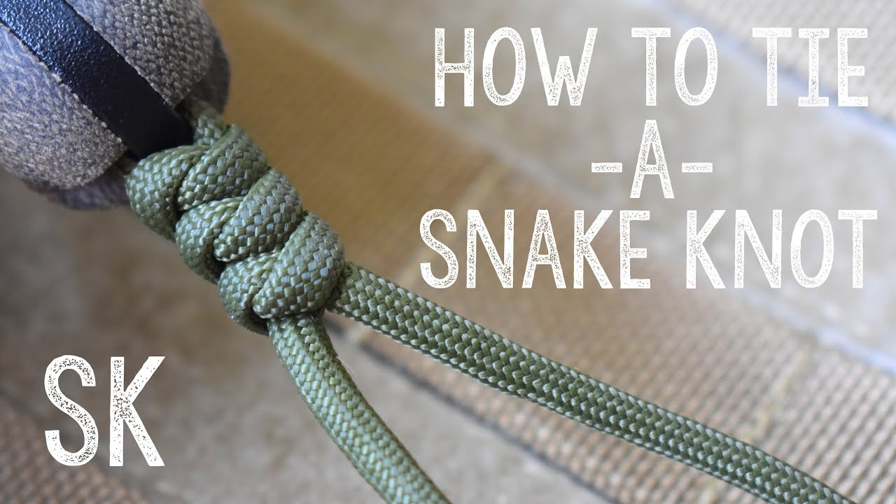 2 color snake knot youtube.