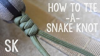 How to Tie a Paracord Snake Knot