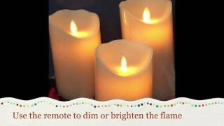Antizer Flameless Candles Dripless Real Wax Pillars UNBOXING REVIEWS