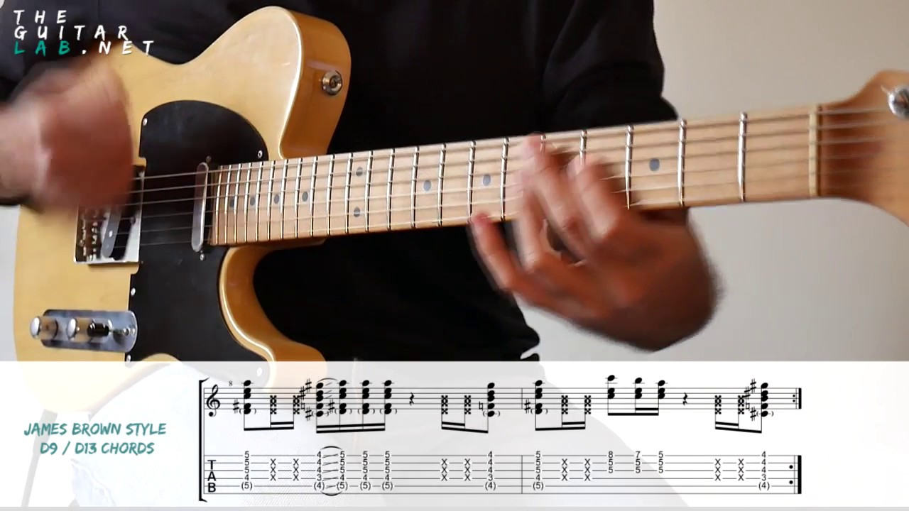 Funk Rhythm Guitar + Tab + JamTrack - JamTracksChannel