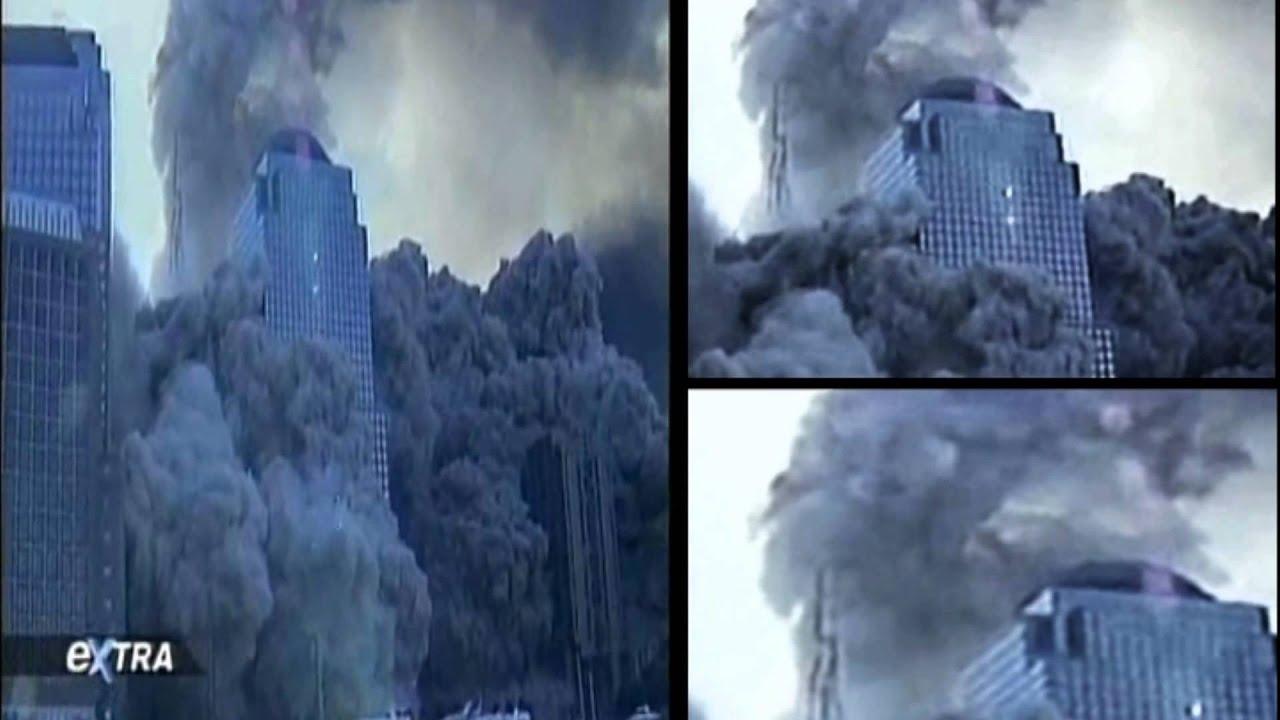 WTC Steel Spire Enhanced Close Up Dustification