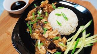Курица с баклажанами в кисло-сладком соусе | Рецепты из курицы | Как приготовить курицу