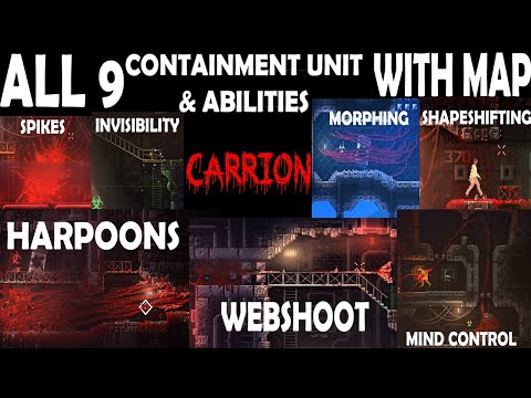 Carrion Horror Game All 9 Containment Unit And 9 Abilities