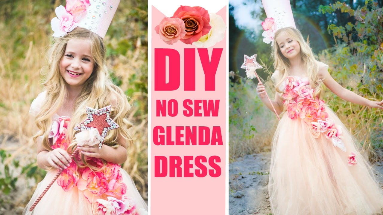 DIY Glenda NO SEW Costume Easy Good witch Dress - YouTube