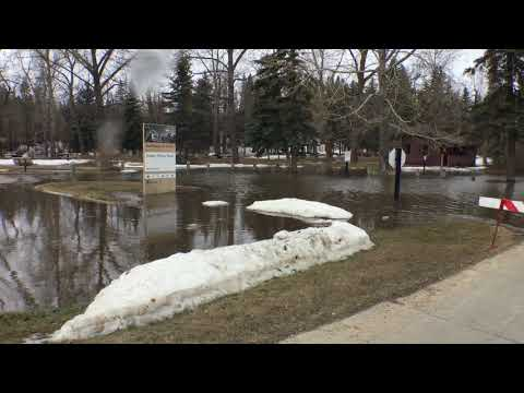 43 Street flooding in downtown Red Deer - 2018
