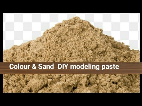 DIY Texture paste with Sand Acrylic paint YouTube
