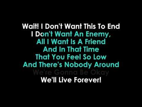 Unite (Live Forever) karaoke  Bars & Melody