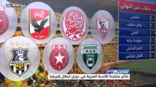 دوري أبطال إفريقيا.. نتائج متباينة للعرب