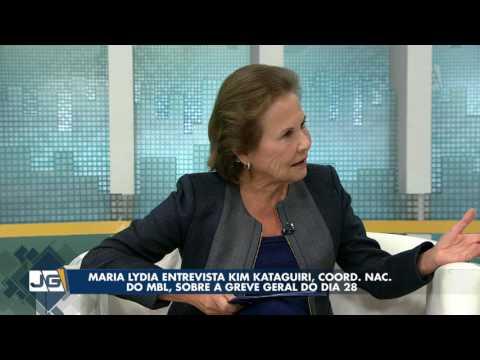 Maria Lydia entrevista Kim Kataguiri, coord. nac. do MBL, sobre a greve geral do dia 28