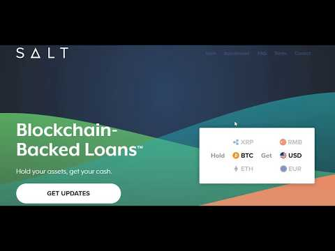 SALT Lending Token ICO and Crypto Loan Platform Introduction