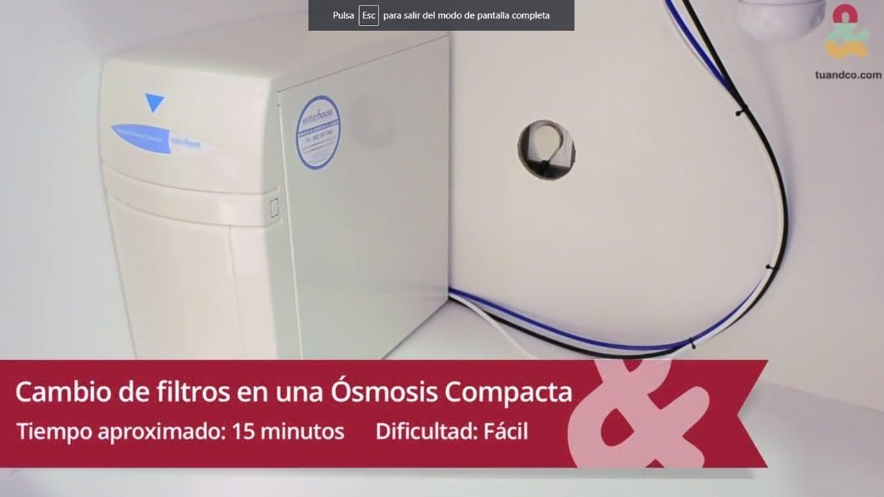 C mo sustituir los filtros de una smosis compacta youtube - Filtros de osmosis inversa precios ...