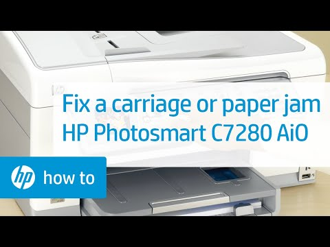 Fixing a Carriage or Paper Jam - HP Photosmart C7280 All-in-One Printer