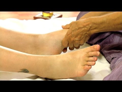 Awesome Foot Massage Floor Techniques How to Feet Body Work Series, ASMR Relaxing Athena Jezik
