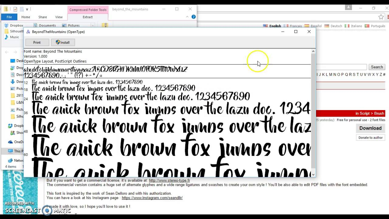 Silhouette Studio: How to upload FREE FONT!