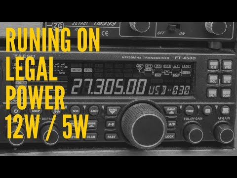 CB radio UK. Getting heard on legal power 12 watts.
