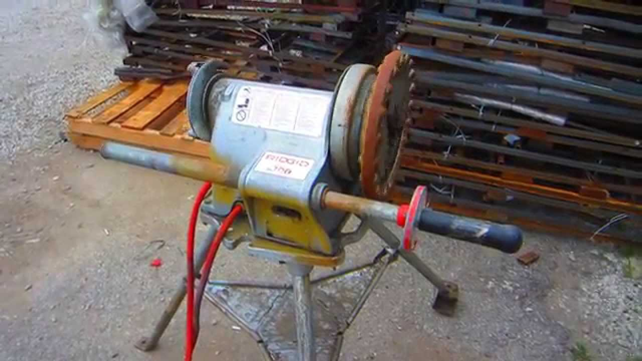 pipe threader stand. ridgid model 300 power drive electric pipe threader + a 1206 tripod stand - lexington, ky