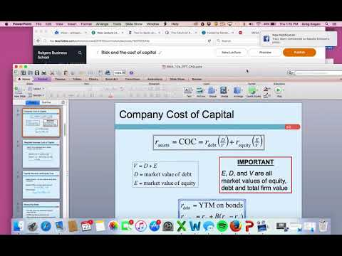 Cost of capital and Beta / Market Risk