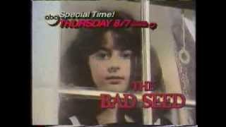 The Bad Seed 1985 ABC Thursday Night Movie Promo