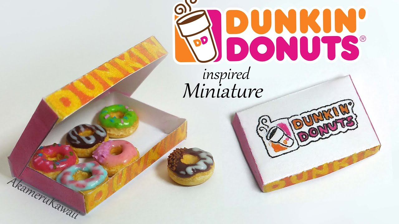 Miniature Dunkin Donuts (inspired) - Polymer Clay Tutorial - YouTube