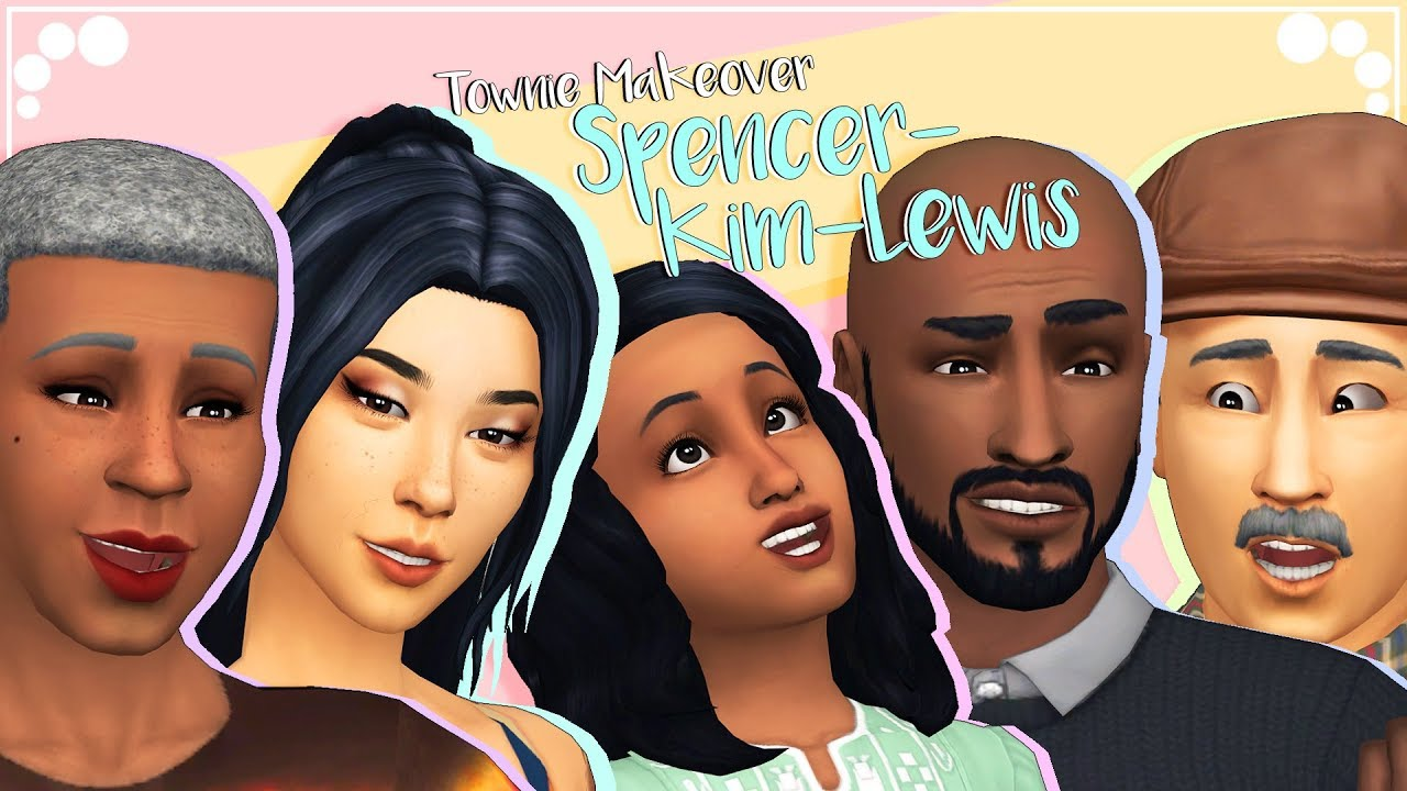SPENCER-KIM-LEWIS | The Sims 4 | Townie Makeover + CC list & sims download