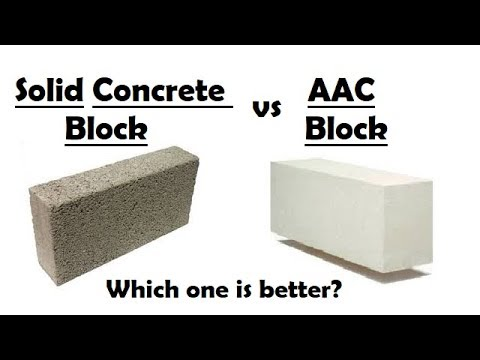 Difference Between AAC Blocks and Solid Concrete Blocks