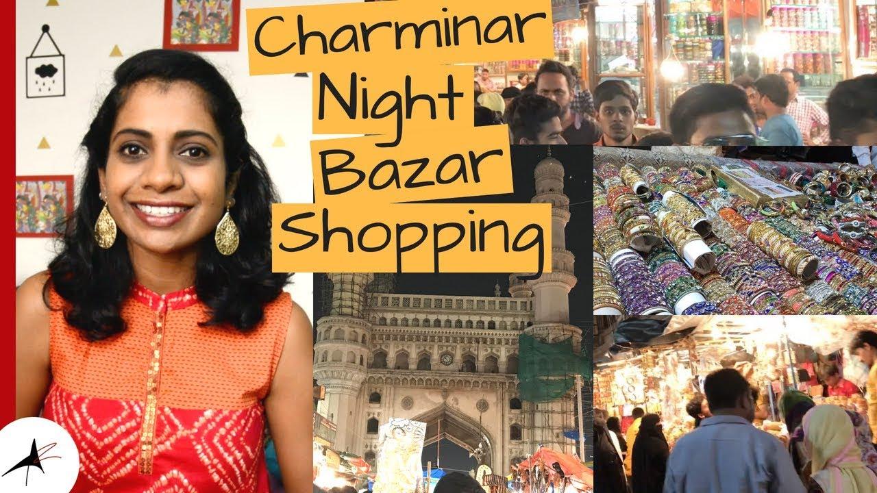 Charminar Ramzan Night Bazar Shopping 2018   Arpitharai