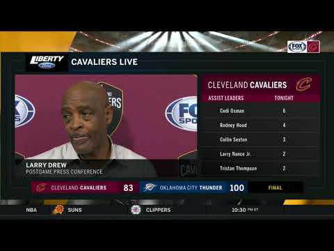 Larry Drew says Cleveland's physicality didn't match OKC | CAVS-THUNDER POSTGAME