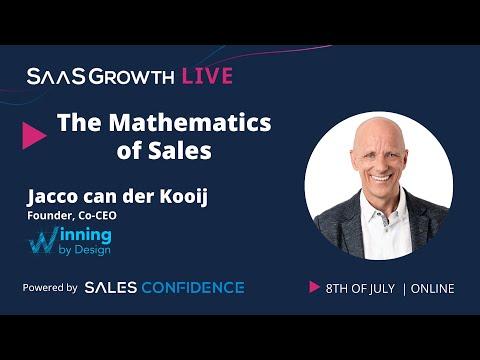 Winning by Design: The Mathematics of Sales - Jacco van der Kooij at SaaSGrowthLive 2020