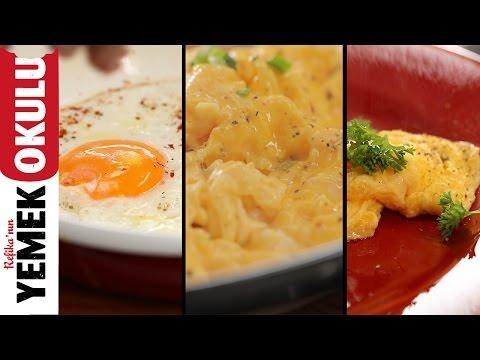 3 Temel Yumurta Tarifi ( Sahanda, Çırpılmış, Omlet ) | Kahvaltı Tarifleri