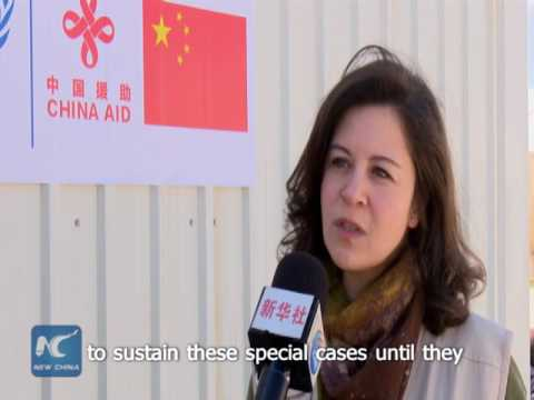 WFP spokeswoman: Generous donation from China helps Syrian refugees in Jordan