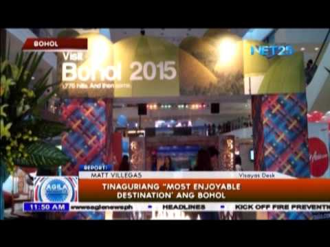 "Bohol, tinaguriang ""Most Enjoyable"""