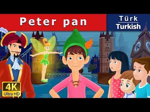 Peter Pan in Turkish - Masal - çoçuk masalları dinle - 4K UHD - Türkçe peri masallar