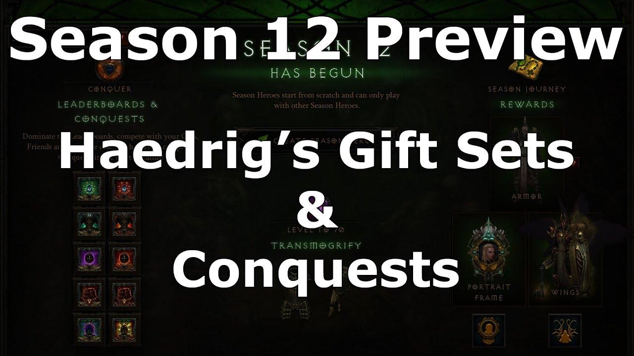 Diablo 3] Season 12 Haedrig's Gift Sets & Conquests Preview ...