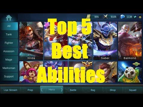 Top 5 Best Abilities- Mobile Legends