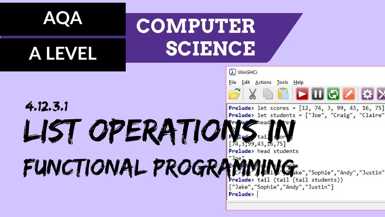 Fundamentals of functional programming - AQA Computer Science