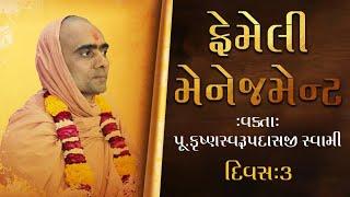 Family Management Seminar by Swami Krushnaswarup Dasji - Day 3