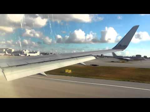 American Airlines 767 Takeoff- Miami International Airport