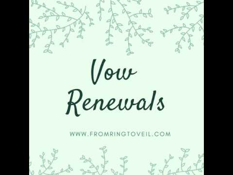 #127 - Ideas for Vow Renewals