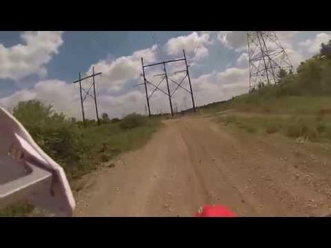 Dirt bike riding (power line in Walpole MA)
