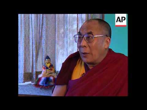 INDIA/CHINA: DALAI LAMA INTERVIEW