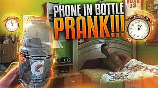 PHONE IN BOTTLE ALARM PRANK!! | FaZe Rug