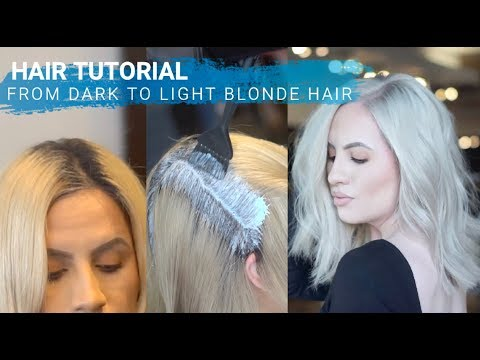 HAIR HOW TO: GO LIGHT BLONDE  TUTORIAL  (Full Detailed video) thumbnail