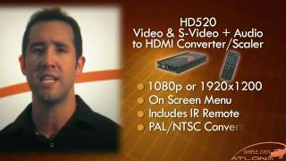 AT-HD520: Composite & S-Video with Audio to HDMI Scaler