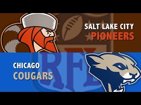 RFL Salt Lake City Pioneers Vs. Chicago Cougars Week 3, Season 4
