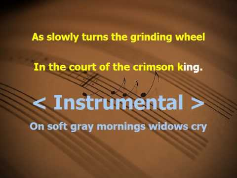the court of crimson king  karaoke